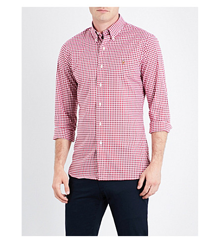 POLO RALPH LAUREN Checked cotton shirt (1799+red/white