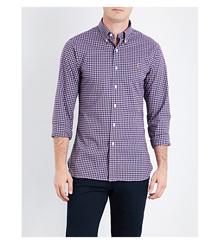POLO RALPH LAUREN Checked cotton shirt (1800+navy/red