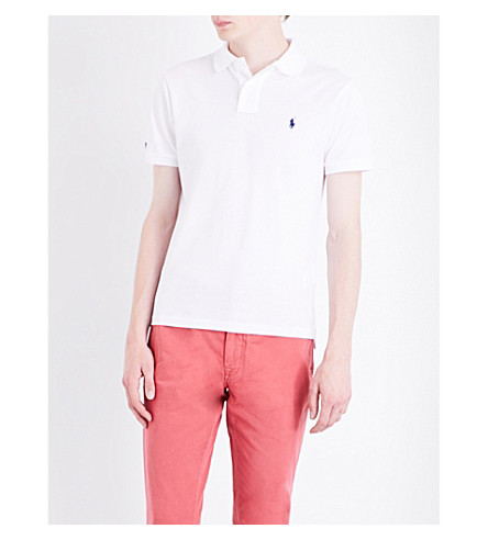 POLO RALPH LAUREN Slim-fit cotton polo shirt (White