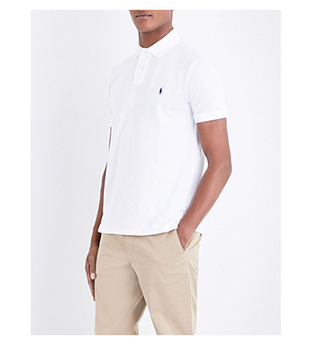 POLO RALPH LAUREN Custom slim-fit cotton T-shirt (White