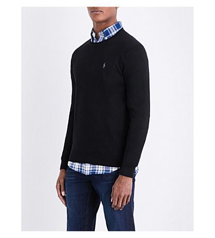 POLO RALPH LAUREN Fine-knit wool jumper (Polo+black