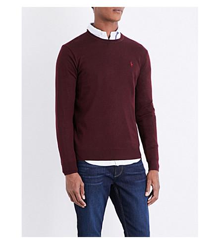 POLO RALPH LAUREN Fine-knit wool jumper (Italian+red