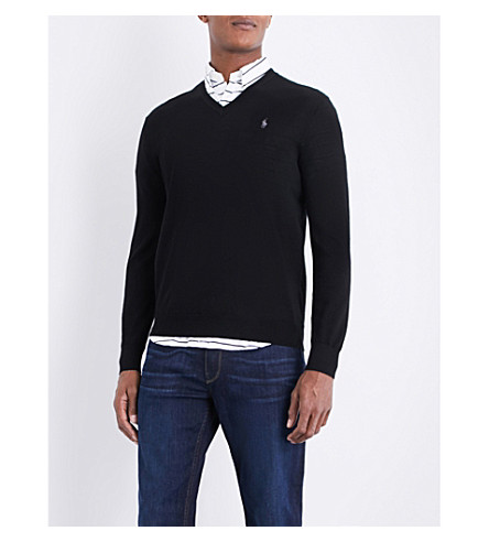 POLO RALPH LAUREN Fine-knit wool jumper (Polo+black