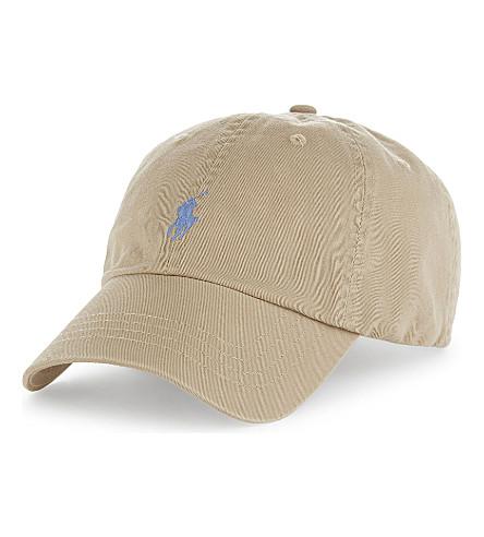 POLO RALPH LAUREN Pony classic cotton baseball cap (Classic+khaki