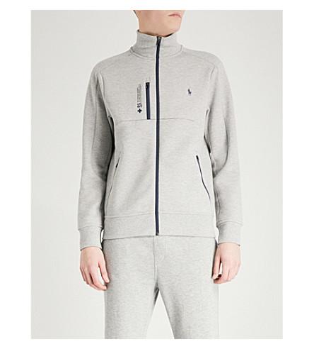 POLO RALPH LAUREN Branded tech-jersey sweatshirt (Andover+heather