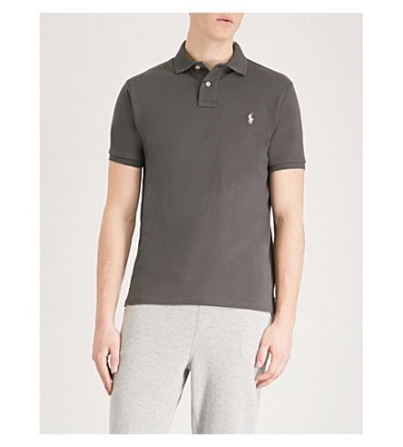 POLO RALPH LAUREN Custom slim-fit cotton-piqué polo shirt (Black+mask/sp18