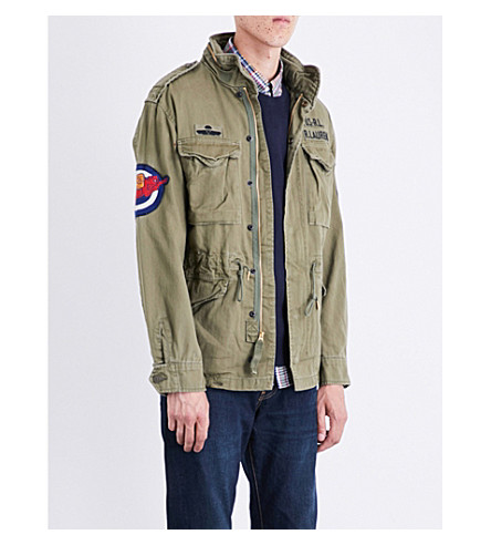 POLO RALPH LAUREN M65 cotton jacket (Soldier+olive