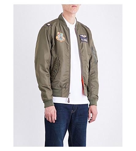 POLO RALPH LAUREN Vintage shell bomber jacket (Bohemian+olive/