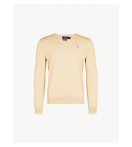 POLO RALPH LAUREN V-neck cotton jumper (Expedition+dune+heather