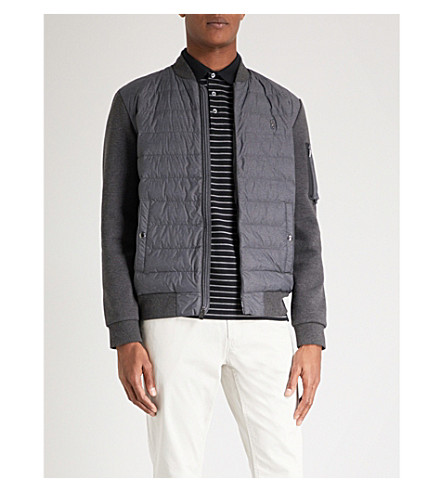 POLO RALPH LAUREN Cotton and shell bomber jacket (Windsor+heather