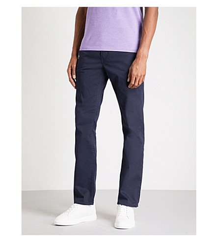 POLO RALPH LAUREN Slim-fit cotton blend chinos (Collection+navy