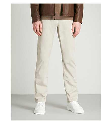 POLO RALPH LAUREN Tailored-fit straight jeans (Nantucket+grey