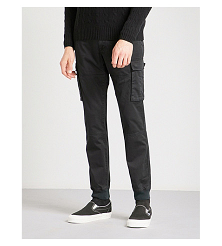 POLO RALPH LAUREN Straight slim-fir mid-rise stretch-cotton trousers (Polo+black