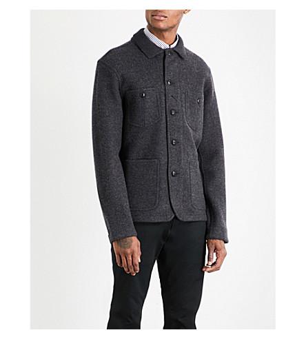 POLO RALPH LAUREN Chore wool-blend jacket (Dark+charcoal+h