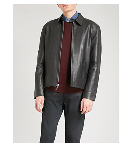POLO RALPH LAUREN Maxwell leather jacket (Polo+black