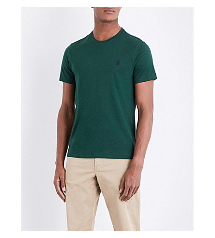 POLO RALPH LAUREN Custom slim-fit cotton T-shirt (Northwest+pine