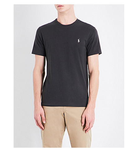 POLO RALPH LAUREN Custom slim-fit cotton-jersey T-shirt (Black+mask