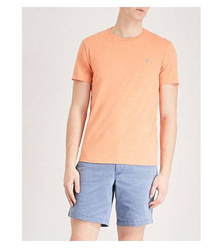 POLO RALPH LAUREN Custom-fit cotton-jersey T-shirt (Beach+orange+heather