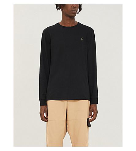 POLO RALPH LAUREN Custom-fit cotton top (Polo+black