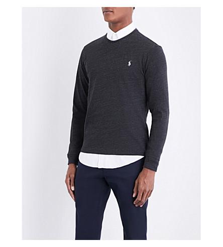 POLO RALPH LAUREN Marl-pattern brand logo jumper (Black+marl+heat