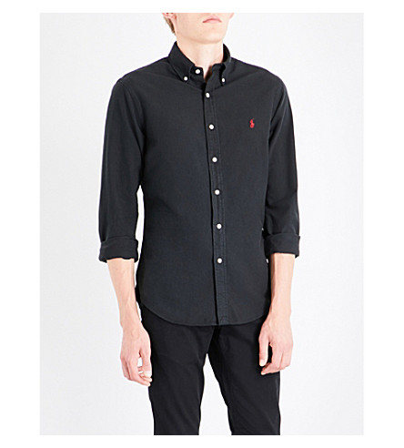 POLO RALPH LAUREN Slim-fit cotton shirt (Rl+black