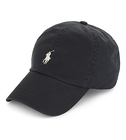 POLO RALPH LAUREN Embroidered logo cotton baseball cap (Dark+carbon+grey