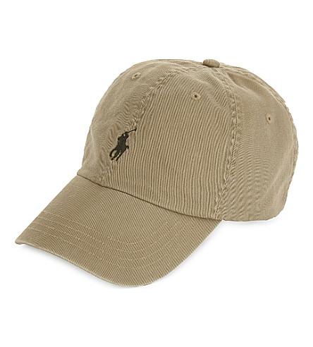 POLO RALPH LAUREN Embroidered logo cotton baseball cap (Granary+tan