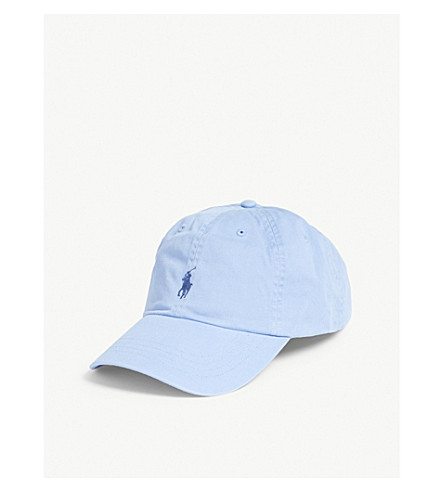 POLO RALPH LAUREN Embroidered logo baseball cap (Austin+blue