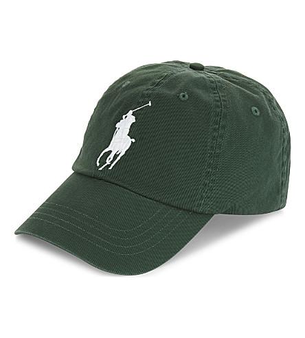 POLO RALPH LAUREN Embroidered logo cotton baseball cap (Northwest+pine