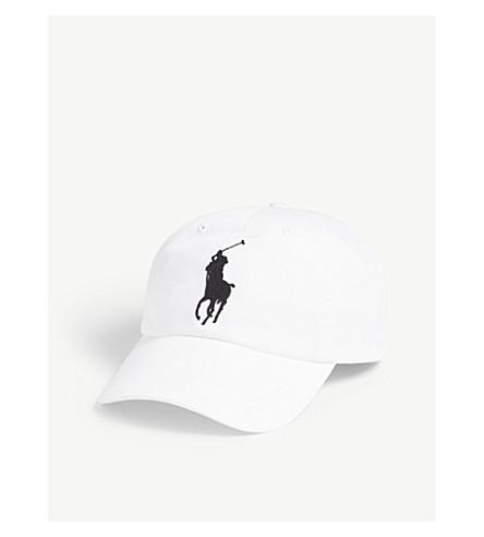 POLO RALPH LAUREN Embroidered logo cotton baseball cap (White