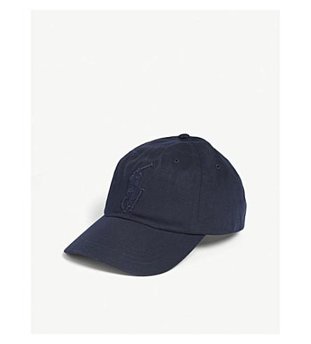 POLO RALPH LAUREN Large embroidered logo baseball cap (Aviator+navy