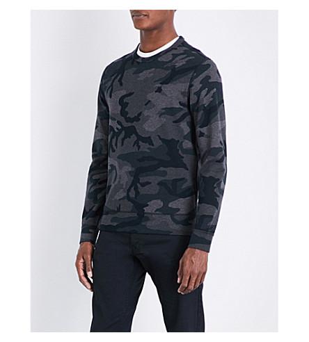 POLO RALPH LAUREN Camouflage-patterend cotton-blend sweatshirt (Grey+multi+camo