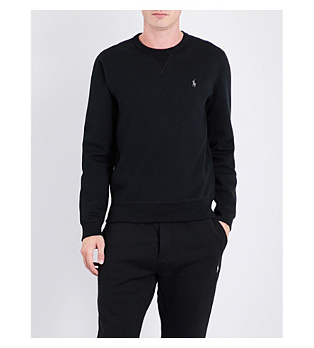 POLO RALPH LAUREN Logo-embroidered jersey sweatshirt (Polo+black/fost