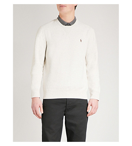 POLO RALPH LAUREN Double-knit jersey sweatshirt (New+sand+heather