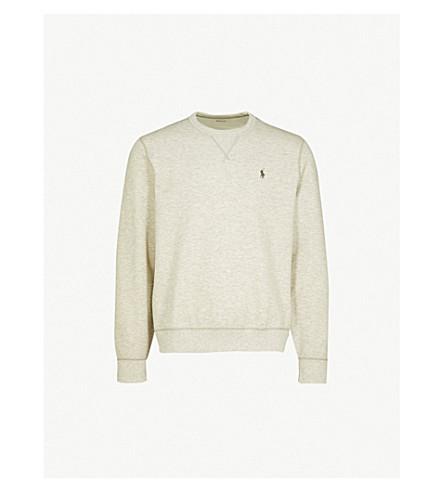 POLO RALPH LAUREN Logo-embroidered jersey sweatshirt (Andover+heather