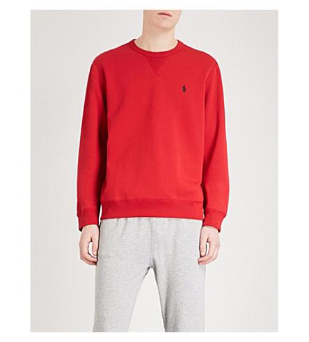 POLO RALPH LAUREN Logo-embroidered jersey sweatshirt (Ralph+red