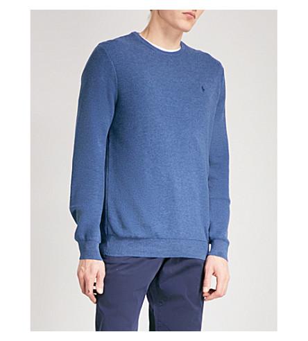 POLO RALPH LAUREN 圆领棉毛衣 (靛蓝 + 石楠