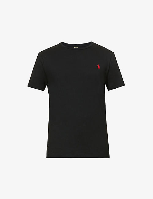 93de591ef8a8 POLO RALPH LAUREN Logo-embroidered custom slim-fit cotton-jersey T-shirt