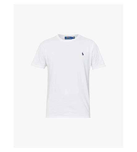 POLO RALPH LAUREN Slim-fit cotton-jersey t-shirt (White