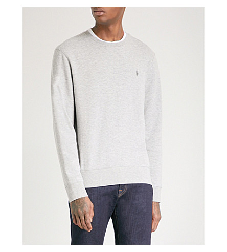 POLO RALPH LAUREN Double-knit cotton jumper (Andover+heather