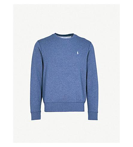 POLO RALPH LAUREN Double-knit cotton jumper (Derby+blue+heather