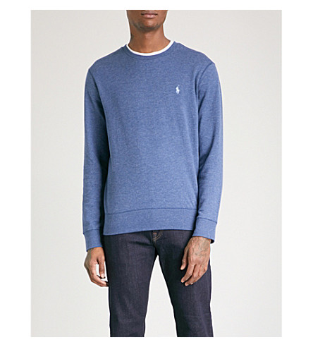 POLO RALPH LAUREN Double-knit cotton jumper (Derby+blue+heather