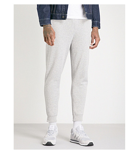 POLO RALPH LAUREN Double-knit cotton-jersey jogging bottoms (Andover+heather
