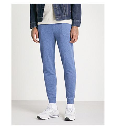 POLO RALPH LAUREN Double-knit cotton-jersey jogging bottoms (Derby+blue+heather