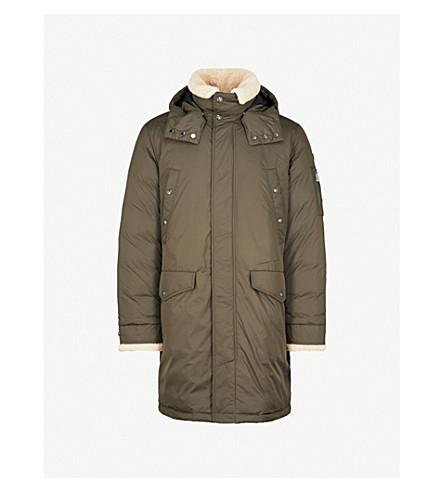 POLO RALPH LAUREN Shearling-hood shell-down jacket (Deep+loden