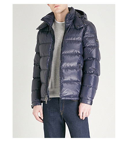 POLO RALPH LAUREN High-shine shell-down jacket (College+navy