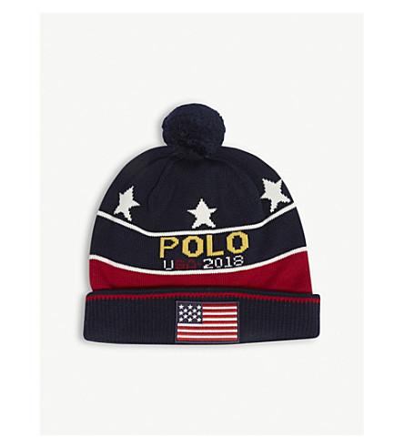 POLO RALPH LAUREN Stadium wool beanie hat (Multi