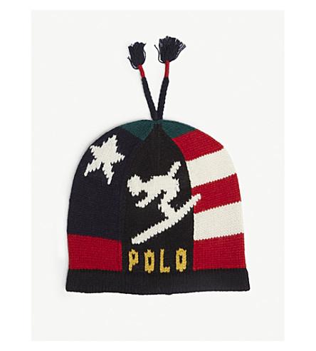 POLO RALPH LAUREN Stadium ski wool-blend beanie hat (Multi
