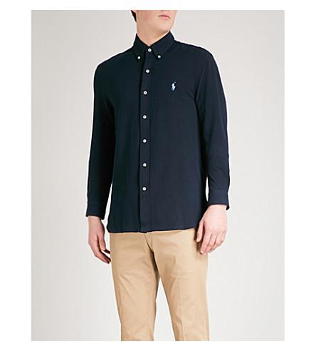 POLO RALPH LAUREN 修身版型棉 Polo 衫 (飞行员 + 海军)