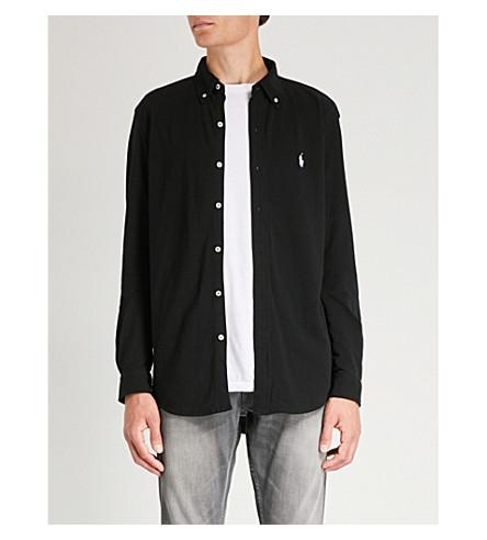 POLO de de marca algodón negro con RALPH Polo Camisa malla LAUREN K0qMU0tpr